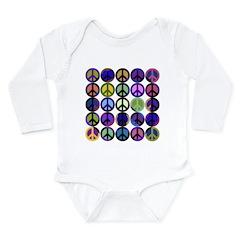 Mod Vintage Peace Long Sleeve Infant Bodysuit