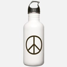 Cool Vintage Peace Sign Water Bottle