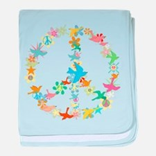 Abstract Art Peace Sign baby blanket