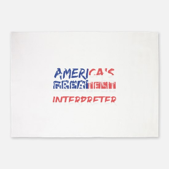 America's Greatest Interpreter 5'x7'Area Rug