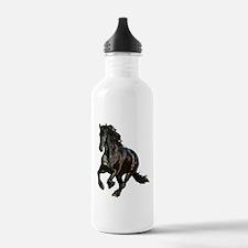 Black Stallion Horse Water Bottle