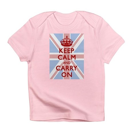 Keep Calm and Carry On Infant T-Shirt