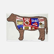 Beef Guide Rectangle Magnet