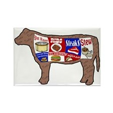 Beef Guide Rectangle Magnet (10 pack)