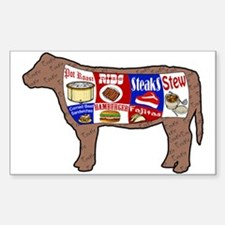 Beef Guide Sticker (Rectangle)