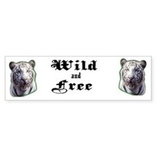 White Tiger Bumper Bumper Sticker