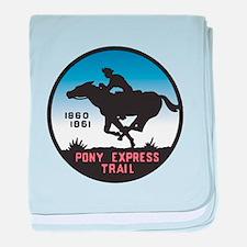 The Pony Express baby blanket