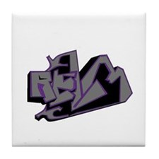 Cute Graphic art Tile Coaster