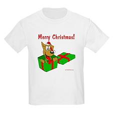 Dog w/ Santa Hat Gift T-Shirt