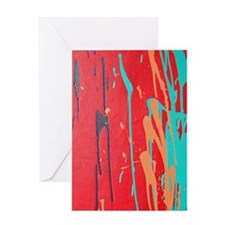 Running Water of Lava Fall Greeting Card