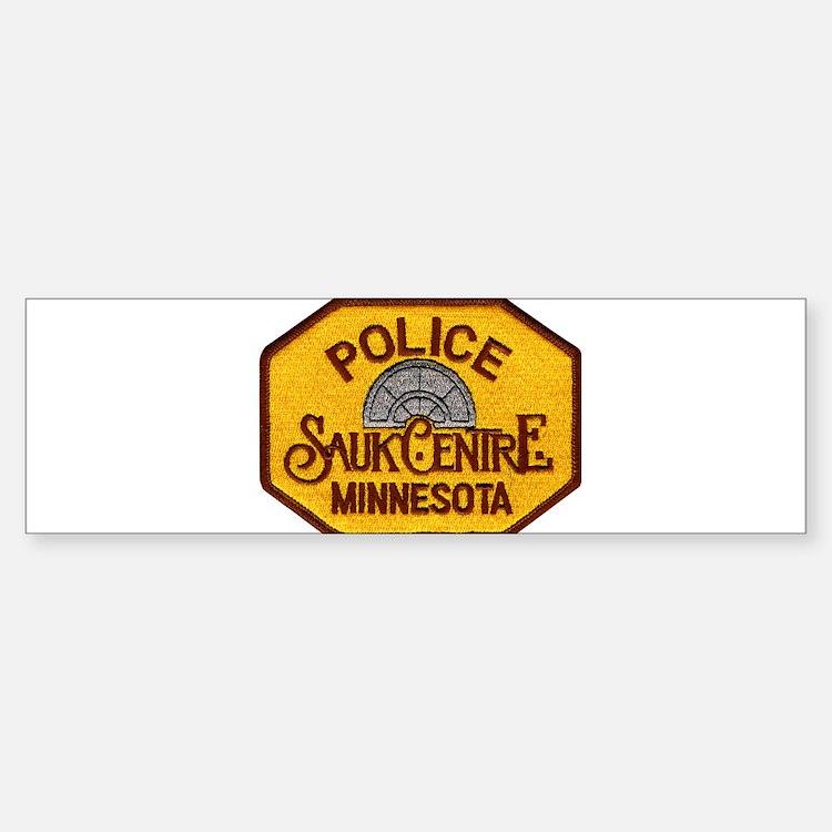 Sauk Centre Police Bumper Bumper Sticker