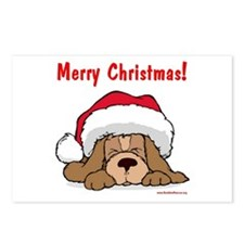 Puppy w/ Santa Hat Postcards (Package of 8)