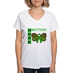 Hope Matters Organ Transplant Women's V-Neck T-Shi