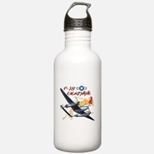 P-38 airplane and pinup Water Bottle