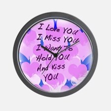 I LOVE U I MISS U Wall Clock