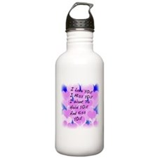 I LOVE U I MISS U Water Bottle