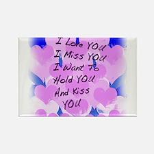 I LOVE U I MISS U Rectangle Magnet