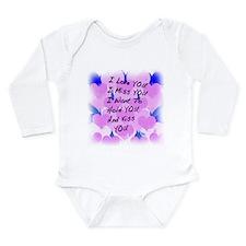 I LOVE U I MISS U Long Sleeve Infant Bodysuit