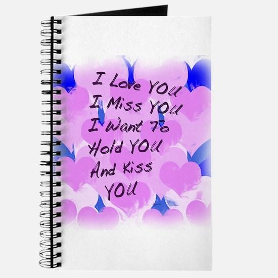 I LOVE U I MISS U Journal