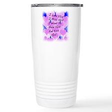 I LOVE U I MISS U Travel Mug