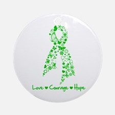 Organ Donor LoveCourageHope Ornament (Round)