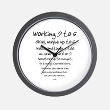 Working 9 to 5 Wall Clock
