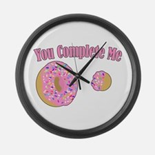 You Complete Me Large Wall Clock