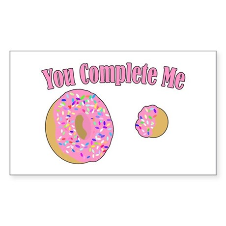 You Complete Me Sticker (Rectangle)