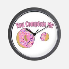 You Complete Me Wall Clock