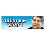 Reagan - Trust But Verify Sticker (Bumper 50 pk)
