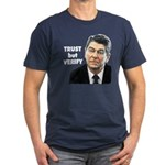 Reagan - Trust But Verify Men's Fitted T-Shirt (da
