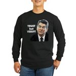 Reagan - Trust But Verify Long Sleeve Dark T-Shirt