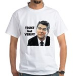 Reagan - Trust But Verify White T-Shirt