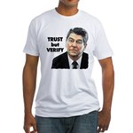 Reagan - Trust But Verify Fitted T-Shirt
