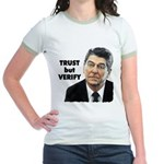 Reagan - Trust But Verify Jr. Ringer T-Shirt