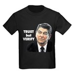 Reagan - Trust But Verify Kids Dark T-Shirt
