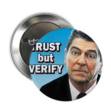 "Reagan - Trust But Verify 2.25"" Button (10 pack)"