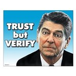 Reagan - Trust But Verify Small Poster