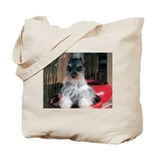 Watch My Schnauzer Grow Tote Bag