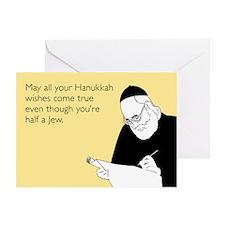 Half Jew Greeting Card