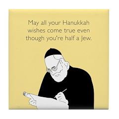 Half Jew Tile Coaster