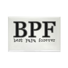 Best Papa Forever Rectangle Magnet