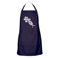 Get Hooked On Jesus Apron (dark)