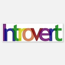 Introvert Colors Bumper Bumper Sticker