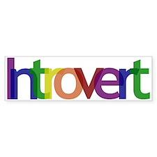 Introvert Colors Bumper Sticker