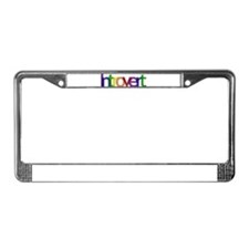 Introvert Colors License Plate Frame