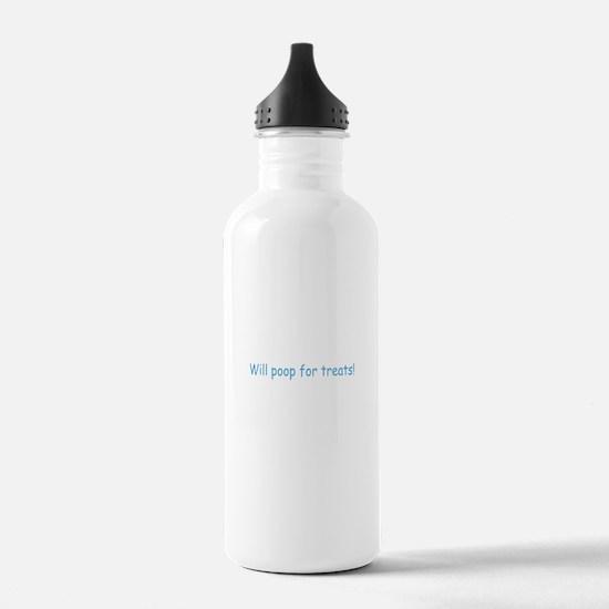 Will Poop For Treats Water Bottle