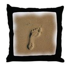 FOOTPRINT Throw Pillow