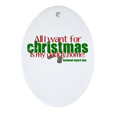 All I want is my Daddy NG Son Ornament (Oval)