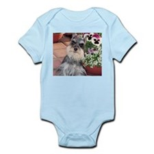 Schnauzer and the Pansies Infant Creeper